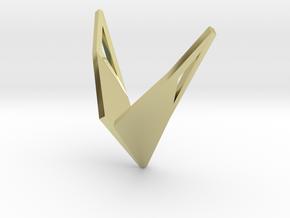 sWINGS Origami, Pendant. Sharp Elegance in 18k Gold Plated Brass