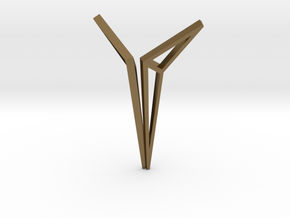 YOUNIVERSAL Origami Structure, Pendant. Sharp Chic in Polished Bronze