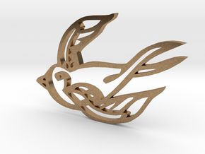 Swallow in Natural Brass