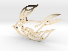 Swallow in 14K Yellow Gold