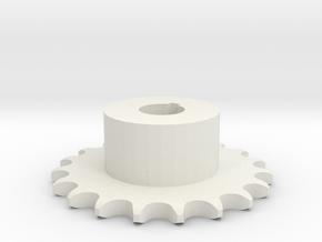 Pignone Per Catena Semplice ISO 04B-1 P6 Z19 in White Natural Versatile Plastic