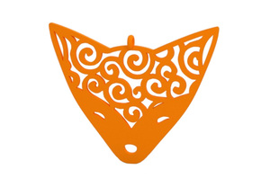 Pendant in Orange Processed Versatile Plastic
