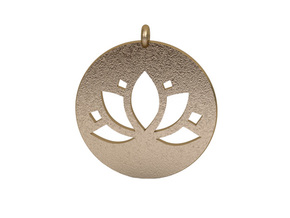 Pendant in Polished Gold Steel