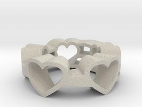 Love Lines Ring in Natural Sandstone: 6 / 51.5