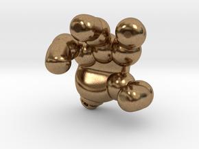 googie robot hand in Natural Brass