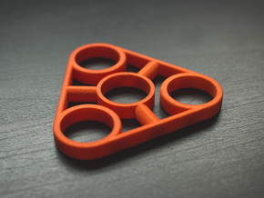 The Truss - Fidget Spinner - EDC in Orange Processed Versatile Plastic