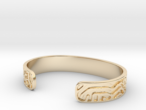 Diffusion Cuff in 14K Yellow Gold: Small