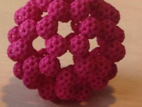 Fractal Fullerene in Pink Strong & Flexible Polished