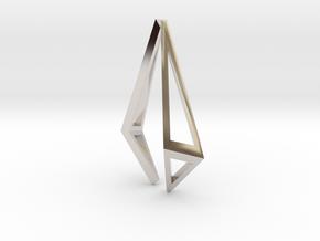 HIDDEN HEART Origami Structure, Pendant  in Platinum