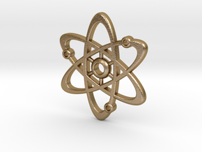 Atom Pendant in Polished Gold Steel