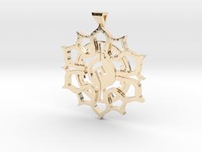 Maya Lotus Pendant in 14k Gold Plated Brass