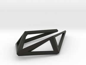 HIDDEN HEART Structura, Pendant. Smply Chic in Black Natural Versatile Plastic