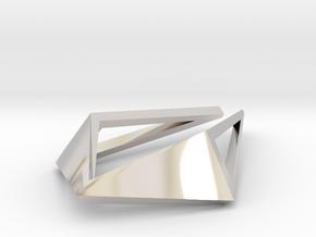 HIDDEN HEART Origami OS, Pendant. Sharp Chic in Platinum