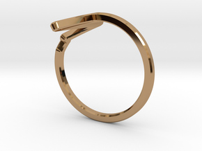 Heartbeat Ring in Polished Brass: 5 / 49