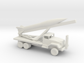 1/200 Scale Honest John Launcher With Missile in White Natural Versatile Plastic