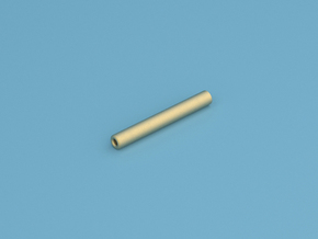 One Hitter - Small in Polished Gold Steel