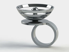 Orbit: US SIZE 4  in Polished Silver