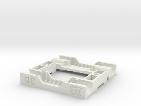 Mk 5 Extruder Carriage in White Strong & Flexible