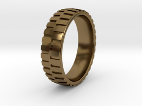 Heavy Loader Tire Tread Ring Sizes 6-13 in Polished Bronze: 6 / 51.5