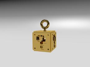 Mario 8-Bit ?-Box in Smoothest Fine Detail Plastic