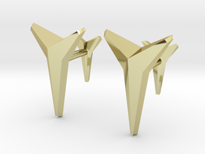 YOUNIVERSAL Solid, Cufflinks. in 18K Gold Plated