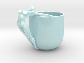 Sexy Cup in 15cm or 12cm in Gloss Celadon Green Porcelain: Large