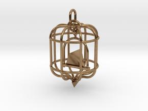 Platonic Birds - Tetrahedron in Natural Brass (Interlocking Parts)
