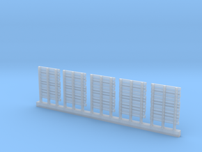 WOODEN PALLETS HO Scale 5 pack in Smooth Fine Detail Plastic