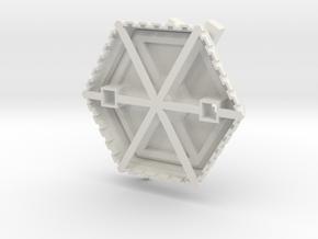 Korbanth Duke - Saber Stand V1 in White Natural Versatile Plastic