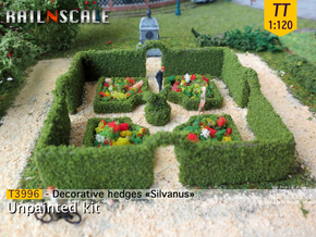 Decorative hedges Silvanus (TT 1:120) in White Natural Versatile Plastic