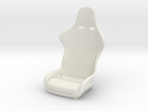 1/6 Scale Recaro Seat in White Natural Versatile Plastic