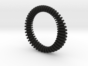 BRACELET_WAVE 01a3 in Black Natural Versatile Plastic
