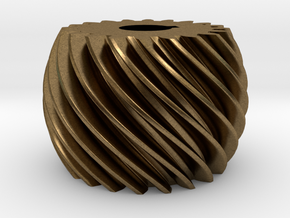 Convex helical gear in Natural Bronze