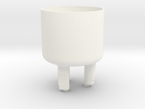 tooth cup in White Strong & Flexible Polished