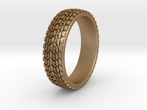 Car Tire Ring Size 6-13 in Matte Gold Steel: 5 / 49