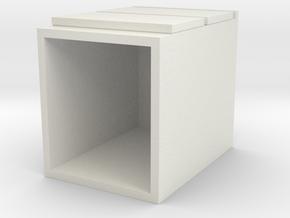 Miniature Malm 2 Drawers - IKEA in White Natural Versatile Plastic: 1:12