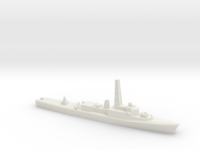 Restigouche-class DDE (Gulf War Refit), 1/1800 in White Natural Versatile Plastic