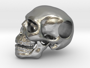 Hope Skull in Natural Silver