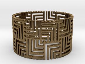 Nexus Ring (Size 11.25-13) in Natural Bronze: 11.25 / 64.625
