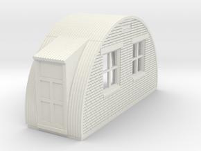 N-87-complete-nissen-hut-back-brick-left-door-16-3 in White Natural Versatile Plastic