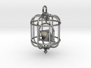 Platonic Birds - Octahedron in Polished Silver (Interlocking Parts)
