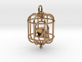 Platonic Birds - Octahedron in Polished Brass (Interlocking Parts)
