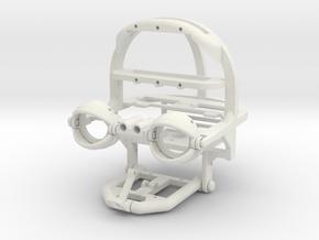 Animatronic Head NANO in White Natural Versatile Plastic
