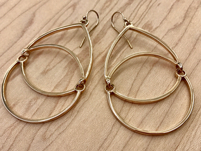 BlakOpal Open Teardrop Earring in Polished Bronze (Interlocking Parts)