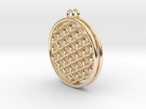 Flower Of Life Earrings in 14K Yellow Gold