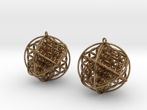 Ball Of Life Earrings in Natural Brass
