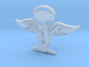 Alien angel Pendant in Smooth Fine Detail Plastic