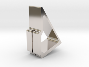 Affinity Stand | iPhone Holder & Charger in Rhodium Plated Brass
