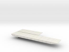 1/600 Scale Mexeflote Plain in White Natural Versatile Plastic