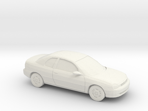 1/43 1995 Dodge Neon 2 Door in White Natural Versatile Plastic